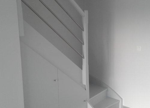 lyonnaise de décoration - rénovation appartement peinture escalier
